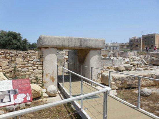 Tarxien Temples : Looppad door het complex