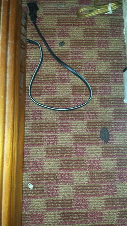Emerald Inn of Maplewood: This was found on our floor next to the bed upon arrival. I told front desk. Next day cleaning c
