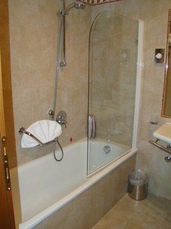 Hotel Athena: Shower & Tub - tight!