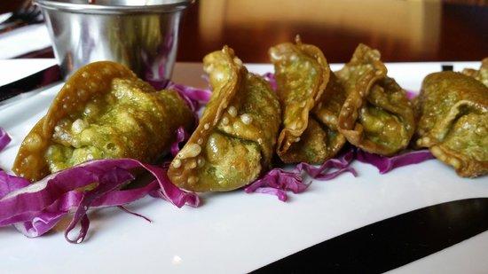 The Cafe, A Mostly Vegetarian Place: Fried Vegan dumplings