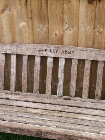 Ley Arms: Bench in the beer garden