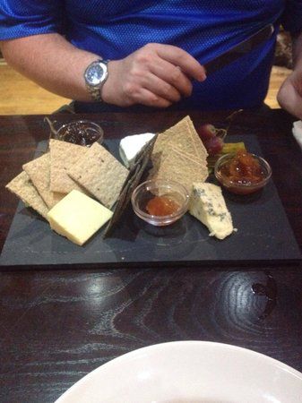 Ley Arms: West Country cheeseboard