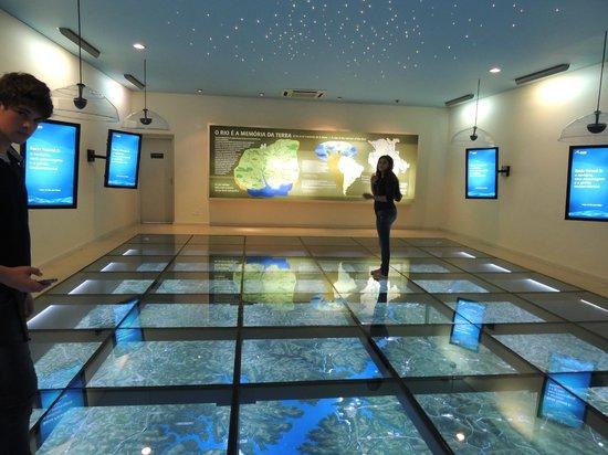 Ecomuseu de Itaipu: Esta sala é sem dúvida, a parte mais interessante do Ecomuseu.