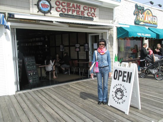 Ocean City Coffee Co: In front of the store