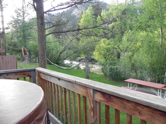 Streamside on Fall River: View from deck