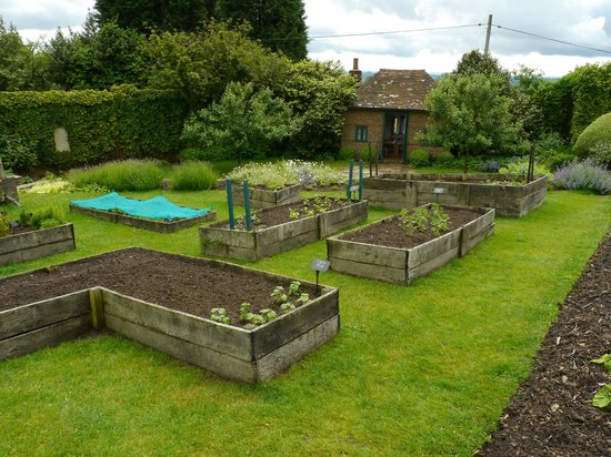 Chartwell: rised beds in the vegetable garden