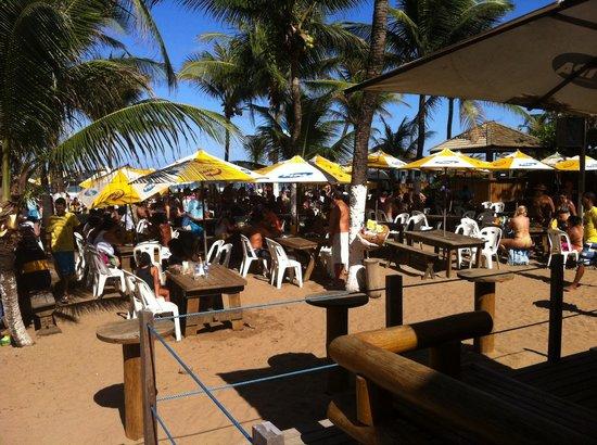 Barraca Pipa: Bar da Pipa, na praia do Flamengo