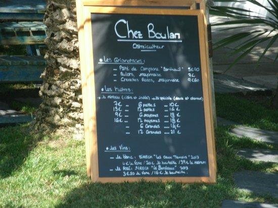 Chez Boulan : la dégusation