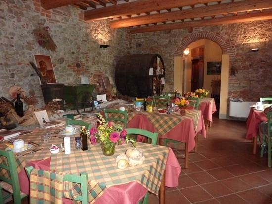 Al Podere di Rosa: Breakfast room