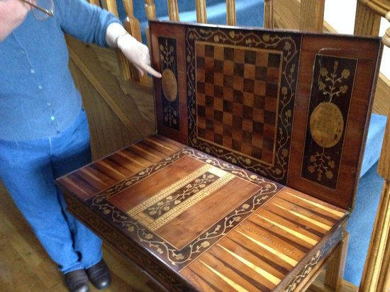 Sallyport House: Kilarney wood game table