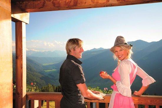 Hotel Quelle Nature Spa Resort: Vista panoramica dalla nostra baita privata