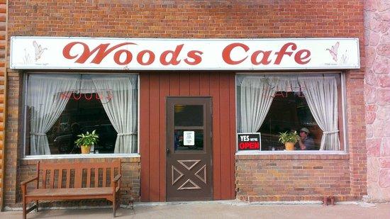 Woods Cafe Signage