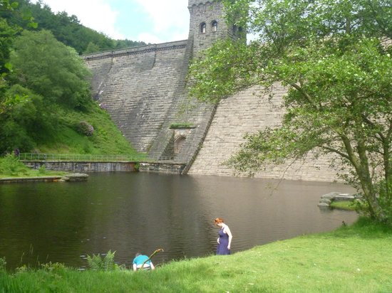 Derwent Dam: and from the side
