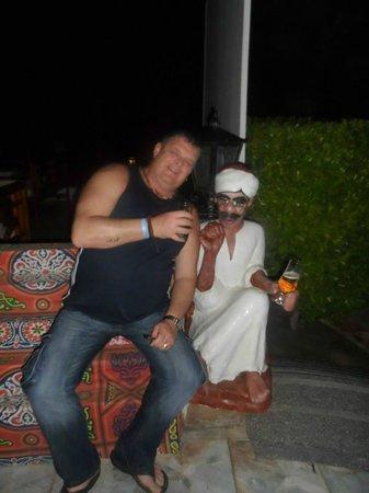 Aladdin Beach Resort: my mate having a smoke