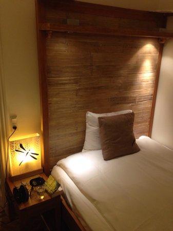 Axel Guldsmeden - Guldsmeden Hotels: Sängen. Enkelrum,standard.