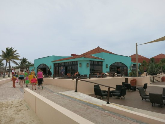 Club Med Cancun Yucatan : View of resort from beach)