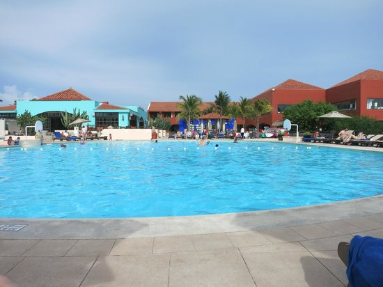 Club Med Cancun Yucatan: Pool with resort in background