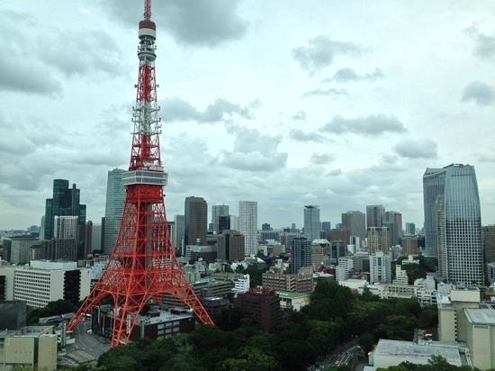 The Prince Park Tower Tokyo: As seen from the 33rd floor of the hotel where breakfast is served
