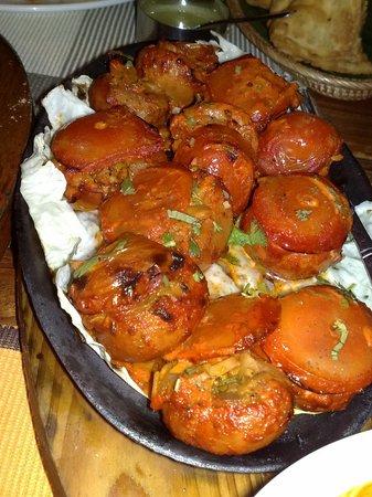Dakshin's : Juicy Cheese Stuffed Tandoor Mushrooms