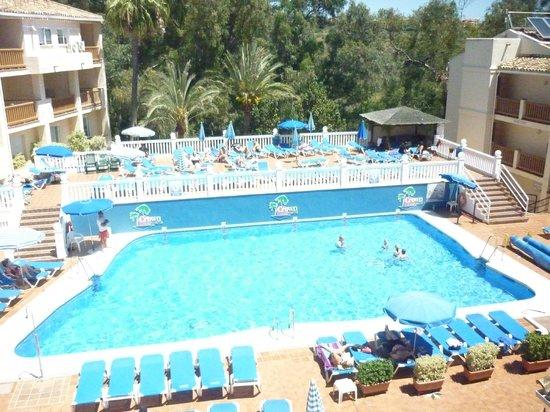 Crown Resorts Club Marbella / Club Regency Palms: The pool and terrace