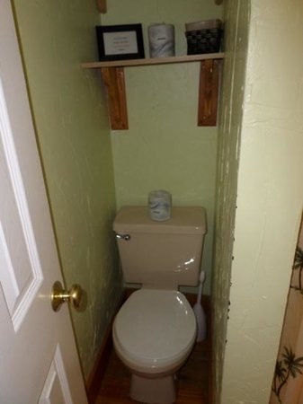 Villas Key West: my least fave part, the toilet area in master bath is very very small