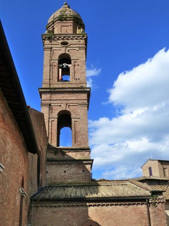 Il Chiostro del Carmine: The old church bell tower from the balcony