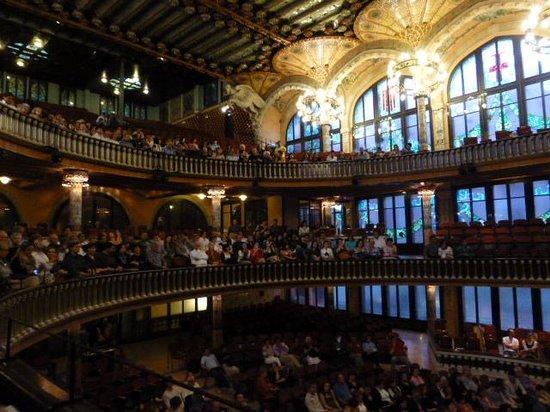 Palais de la Musique Catalane (Palau de la Musica Catalana) : The concert seating