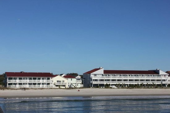 View of Ocean Crest motel from the pier