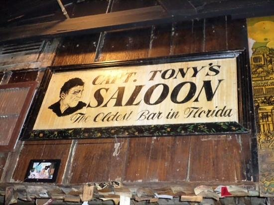 Capt. Tony's Saloon: lots of history on these walls