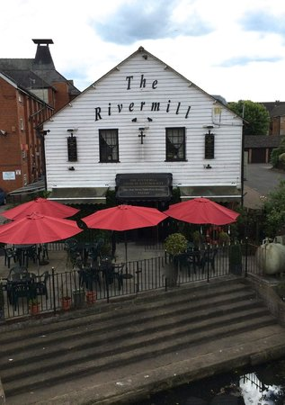The Rivermill: View from the footbridge