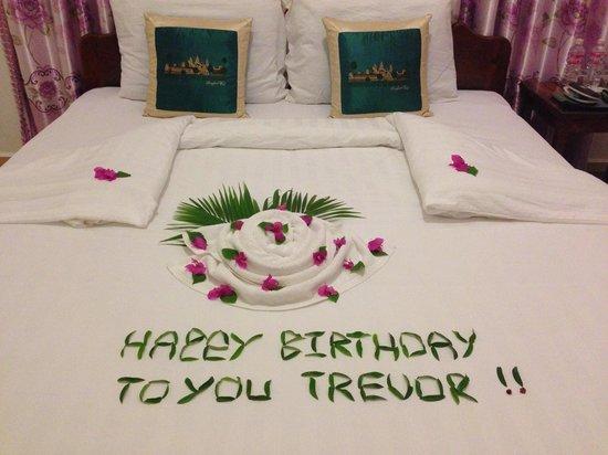 Sunsai Villa: Kim's birthday message for my husband