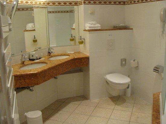 Hostellerie des Chateaux & Spa: salle de bain baignoire toilette