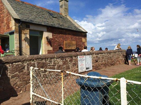 The Rocketeer Restaurant: June, outside