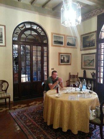 Castello di Monterinaldi: our private dining room