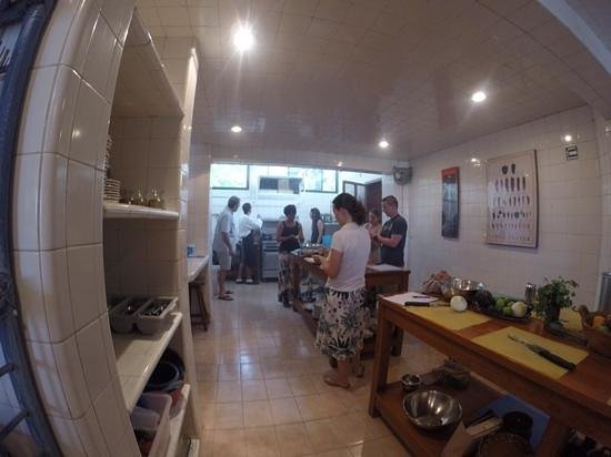 The Little Mexican Cooking School: super clean teaching kitchen