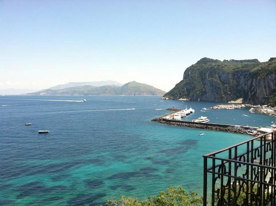 Capri Inn: View from our balcony - Marina Grande room