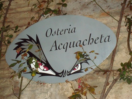 Osteria Acquacheta: Sign