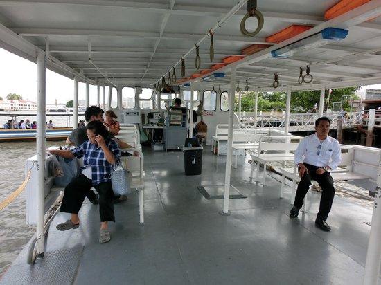 Templo del Amanecer (Wat Arun): Ferry leaving Tha Tien Pier
