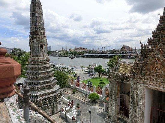 Templo del Amanecer (Wat Arun): View from Wat Arun Towering Top