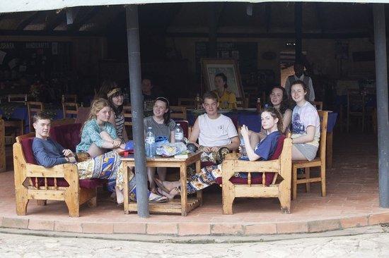 Bushara Island Camp: The eating tent