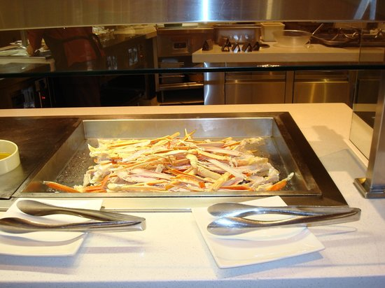 The Buffet at Aria : warme Crablegs