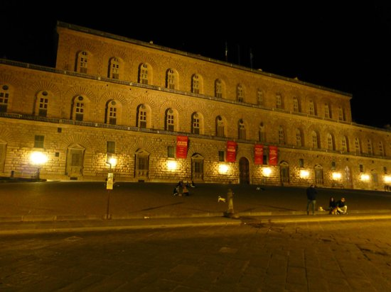 Enoteca Pitti Gola e Cantina : This is the Pallzio Pitti, the home of the Medicis in Firenze