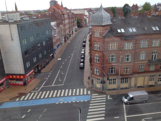 Cabinn Odense: Good vire from the restaurant.