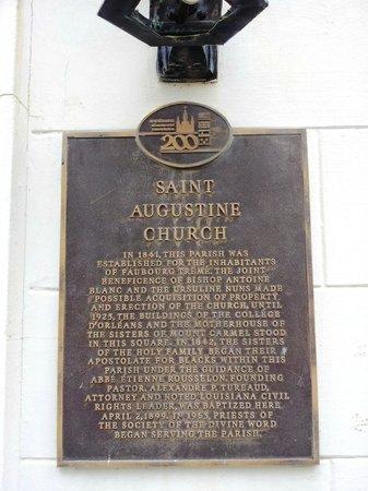 St. Augustine Church: St Augustine Church Placque