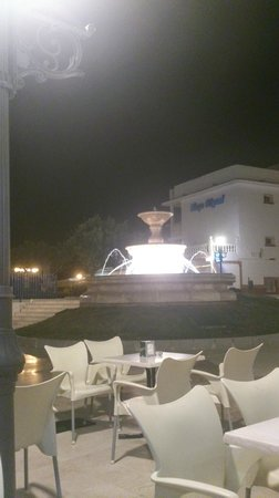 Hotel Cabello: view from outside bar area