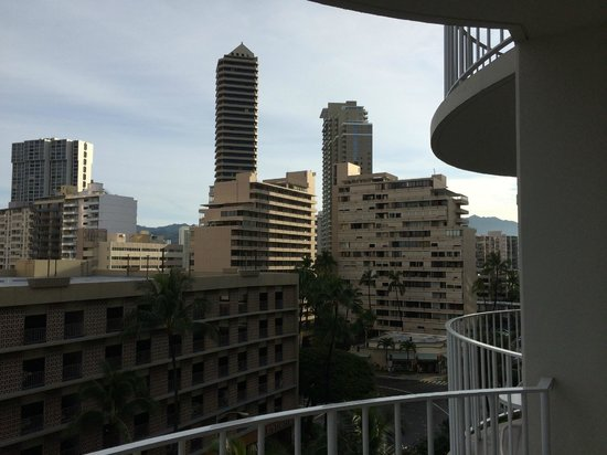 "The Modern Honolulu: View from an ""oceanview"" room (to the right)"