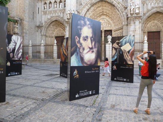 Catedral Primada: Patio externo da Cathedral de Toledo