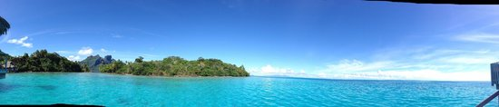 Conrad Bora Bora Nui : Panoramic view from Bungalow 107.