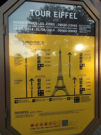 Tour Eiffel : sign