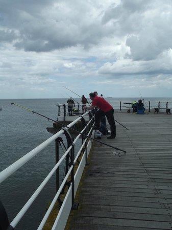 Saltburn Pier: Fishermen